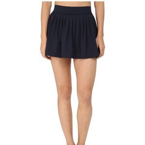 Kate Spade Georgica Navy Pleated Swim Skirt